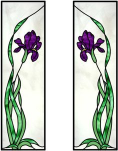 Cabinet glass flowers