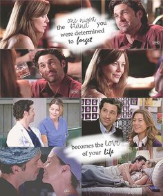 MEREDITH (VOICEOVER): When something begins, you generally have no idea how it's going to end. The house you're going to sell becomes your home, the roommates you were forced to take in become your family, and the one night stand you were determined to forget becomes the love of your life. #MerDer Grey's Anatomy