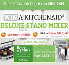 Win A KitchenAid Deluxe Stand Mixer For The Home Pinterest - Better homes and gardens stand mixer
