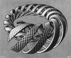 Escher art | Spirals - M.C. Escher - WikiPaintings.org