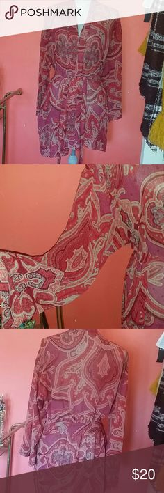 Vintage Victoria's Secret Paisley Robe Light, translucent material. No rips, stains, discoloration, etc. Victoria's Secret Intimates & Sleepwear Robes