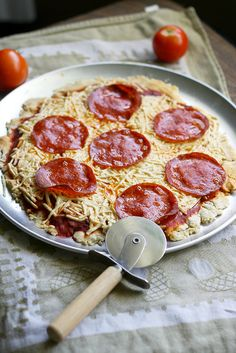 Gluten free and dairy free pepperoni pizza recipe