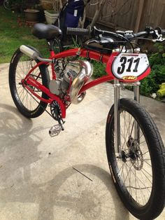 Sat April 2013 is the Next SoCal Motor Bicycle Racing Event - Page 15 - Motorized Bicycle - Engine Kit Forum Retro Bicycle, Retro Motorcycle, Motorcycle Bike, Bicycle Engine, Bicycle Race, Cool Bicycles, Cool Bikes, Moped Motor, Gas Powered Bicycle