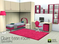 Claire teen room by spacesims at TSR via Sims 4 Updates #Sims4 #Downloaded