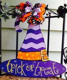 Halloween witches ghost cats witches hat by Angelascreativecraft