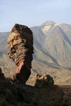 El Roque Cinchado and Teide  Orotava  Tenerife  Spain