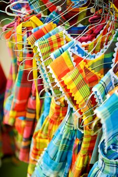 The typical madras fabric of Guadeloupe