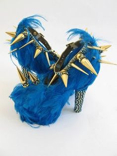 .A sort of cookie monster goes punk kind of shoe!