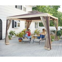 Gazebo 10x10 Outdoor Backyard Garden Patio Deck Mosquito Bee Screen Netting Tent #castlecreek1
