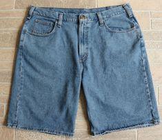 Carhartt Mens Size 40 Five Pocket Denim Shorts Light Classic Wash B354 LCW #Carhartt #Denim