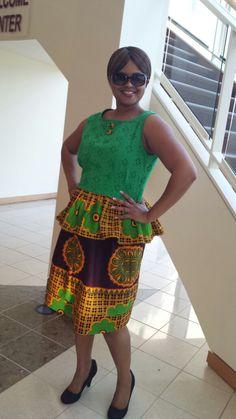 beautiful khanga outfit made by GAM