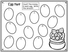 Plastic eggs are such a fun way to add a little fun to your centers. This plastic egg freebie can be used for math, sight words, or any way you choose. Fun Math Activities, Easter Activities, Holiday Activities, Second Grade Freebies, First Grade Math, Grade 2, Math Classroom, Classroom Ideas, Math Math