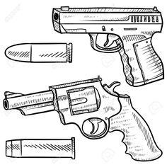 14559452-Pistola-de-estilo-Doodle-o-dibujo-que-incluye-un-arma-de-fuego-autom-tica-y-un-rev-lver-en-formato-v-Foto-de-archivo.jpg (1299×1300)
