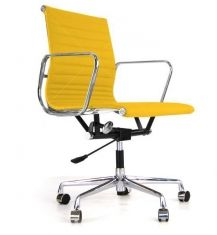 Eames Style EA 117 Office Chair - Yellow Leather