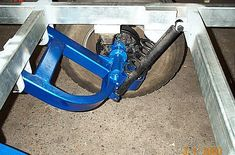 diy camper trailer plans | Pic.8: Side view of trailer suspension complete with removable stub ...