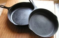 Cleaning cast iron (or Pampered Chef stoneware) - Scrub your cast iron with coarse salt and a soft sponge. The salt is a natural abrasive and will absorb oil and lift away bits of food while preserving the pan's seasoning. Rinse away salt and wipe dry