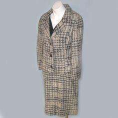 Vintage 1960's Louis Feraud Dress Tweed Suit