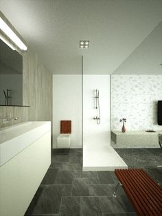 bathroom in hotelroom.