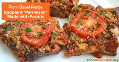 Plant-based recipe for Eggplant Parmesan