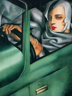 p/autoportrait-tamara-in-the-green-bugatti-lempicka-painting-reproduction - The world's most private search engine Art Deco Artists, Art Deco Paintings, Art Deco Illustration, Illustrations, Bugatti, Pinturas Art Deco, Tamara Lempicka, Georgia O'keeffe, Francis Picabia