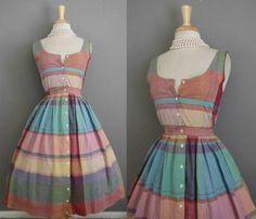 Vintage 70s does 50s Swing Dress  VTG 1950s Style by GGMMVintage, $50.00
