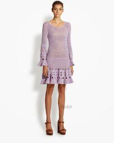 Crochetemoda Blog: Vestido de Crochet Lilás