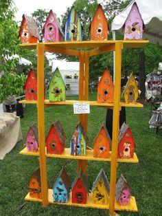 Product Idea: Painted Bird Houses