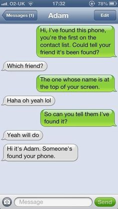 Trying to give someone his phone back…is harder than I thought…