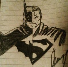 #draw #art #batman #superman