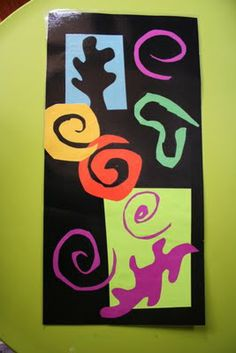 Matisse for preschool art- positive/negative space