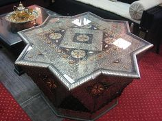 moroccan furniture. #gorgeous #coffee_table
