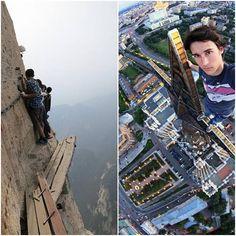 Hazardous photos of heights, look for Adventure