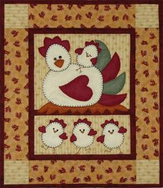 Free Country Applique Patterns | Chicken Applique Template Easter Chick DIY by AngelLeaDesigns