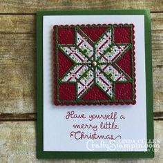 Stampin Scoop - 2017 Holiday Catalog - Linda Cullen - Stampin Up - Christmas Quilt