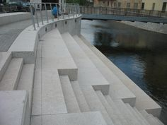 Riverbank on Masaryk Square in Letovice town, Czech republic, autor Jana Kastankova, 2011 Czech Republic, Stairs, Outdoor Decor, Design, Author, Stairway, Staircases, Ladders, Bohemia