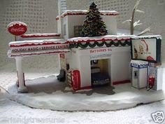Hawthorne Village Coca Cola Service Center Christmas Village Light Holiday COA