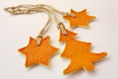 10 Inspiring Trends in Christmas Tree Ornaments and Winter Holiday Decorations Christmas Ornament Crafts, Christmas Tree Decorations, Diy Ornaments, Christmas Colors, Christmas Holidays, Christmas Oranges, Deco Orange, Orange Ornaments, Deco Originale