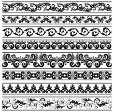 All-free-dowload.  classic lace pattern 08 vector