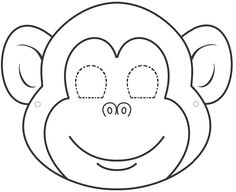 5 Little Monkeys Week- Monkey mask Have kiddos wear pajamas and decorate monkey mask - have something to jump around on (old matress, trampoline) Animal Face Mask, Animal Faces, Face Masks, Animal Masks For Kids, Mask For Kids, Monkey Template, Monkey Pattern, Templates Printable Free, Printables