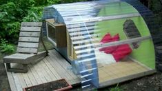 Backyard shelter- hear the rain, watch a bonfire, snuggle up with a book... I'm building one this summer