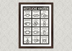 Poster mit Infografik Anleitung für Knoten