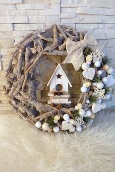 With little effort you make yourself the most beautiful Christmas and winter decoration e - Weihnachtsdeko draussen ☃️ - Weihnachten Noel Christmas, Rustic Christmas, Winter Christmas, Christmas Projects, Diy And Crafts, Christmas Crafts, Christmas Ornaments, Party Crafts, Christmas Ideas
