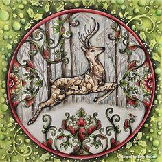 "☞ link ""johannabasford_repost"" 🌹 secret garden 🌳 enchanted forest 🐳 lost ocean 🐍 magical jungle 🎄 johanna's christmas ☟ the real Johanna Basford"