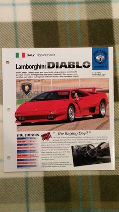 Cool Amazing Lamborghini Diablo Spec Sheet Sports Cars Group 3 #5 2017 2018