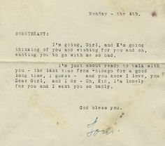 Details about old love letter for the last time from chicago 1929 love letter m4hsunfo