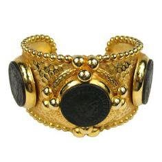 Phillipe Ferrandis Coin Hammered Bracelet