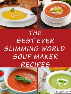 The Best Ever Slimming World Recipes. All the best soup maker recipes for The Best Ever Slimming World Recipes. All the best soup maker recipes for and many and all in one place together. Slimming World Soup Recipes, Slimming World Fakeaway, Slimming World Diet, Slimming Eats, Slow Cooker Soup, Slow Cooker Recipes, Homemade Sausage Rolls, Fodmap Recipes, Air Fryer Recipes