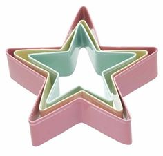 Kitchen Craft Sweetly Does It Star Shaped Cookie Cutters , Set of 3