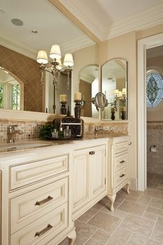 Color and footed cabinets