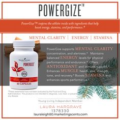 Powergize from Young Living! Ready to kick your workouts up a notch with more energy and stamina? While supporting your hormones?